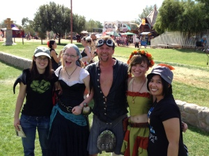 Me and my friends with sweaty Adrian from Tartanic (pst, he's not wearing pants!)